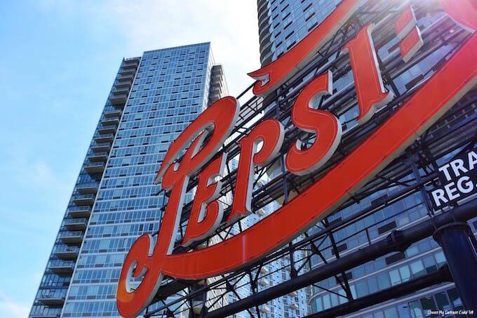 Pepsi Cola sign New York City