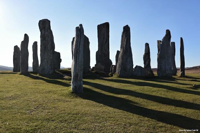 Callanish Stones in sunlight