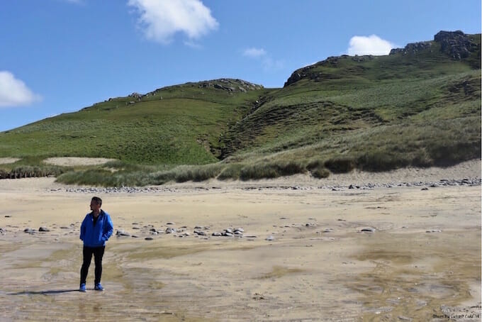 Man on Dal Mor Beach