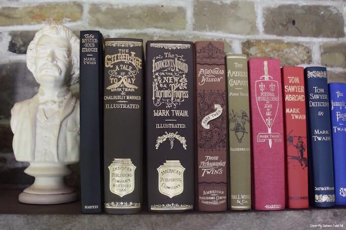Mark Twain books on shelf