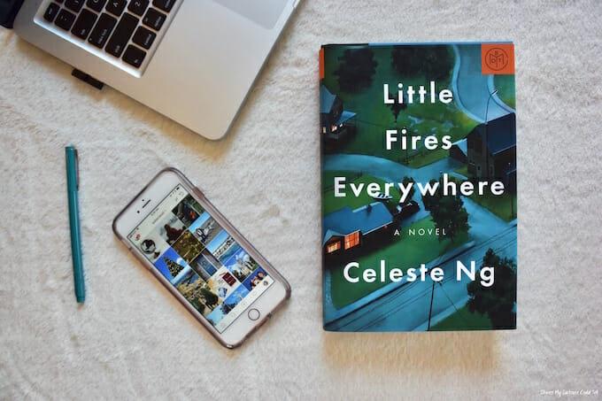 Book next to laptop