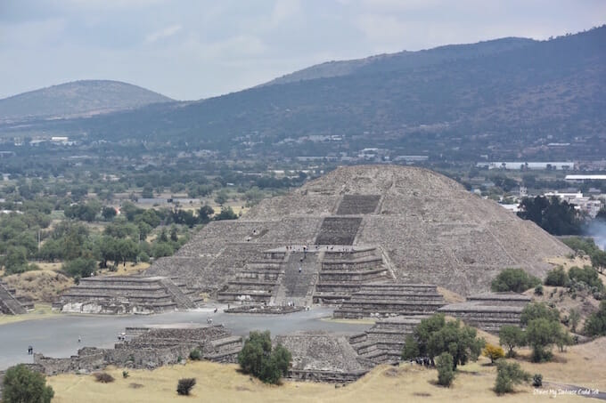 Teotihuacan pyramids from above
