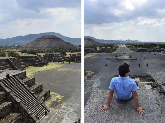 View from Pyramid of the Sun Teotihuacan