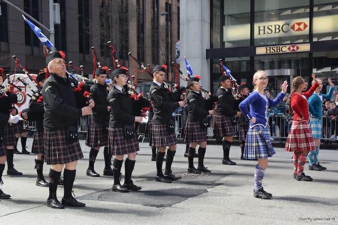 Sgoil Lionacleit Pipe Band Tartan Parade