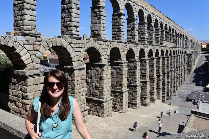 Katie in Segovia