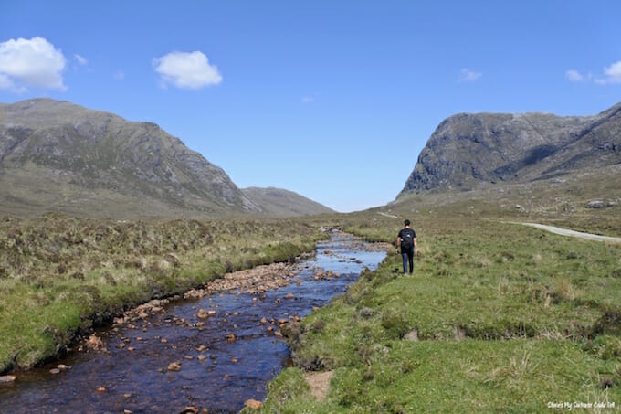 Walking to North Harris Eagle Observatory