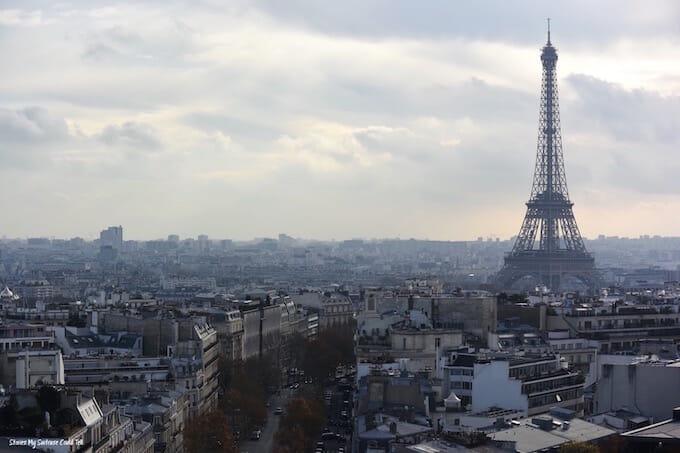 Eiffel Tower skyline view