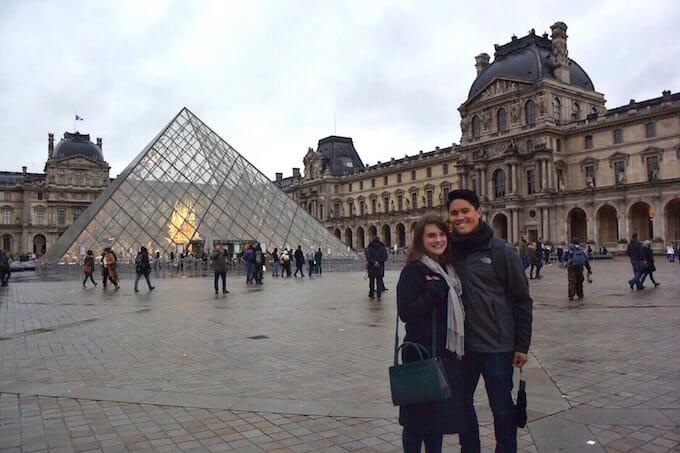 Outside the Louvre Paris