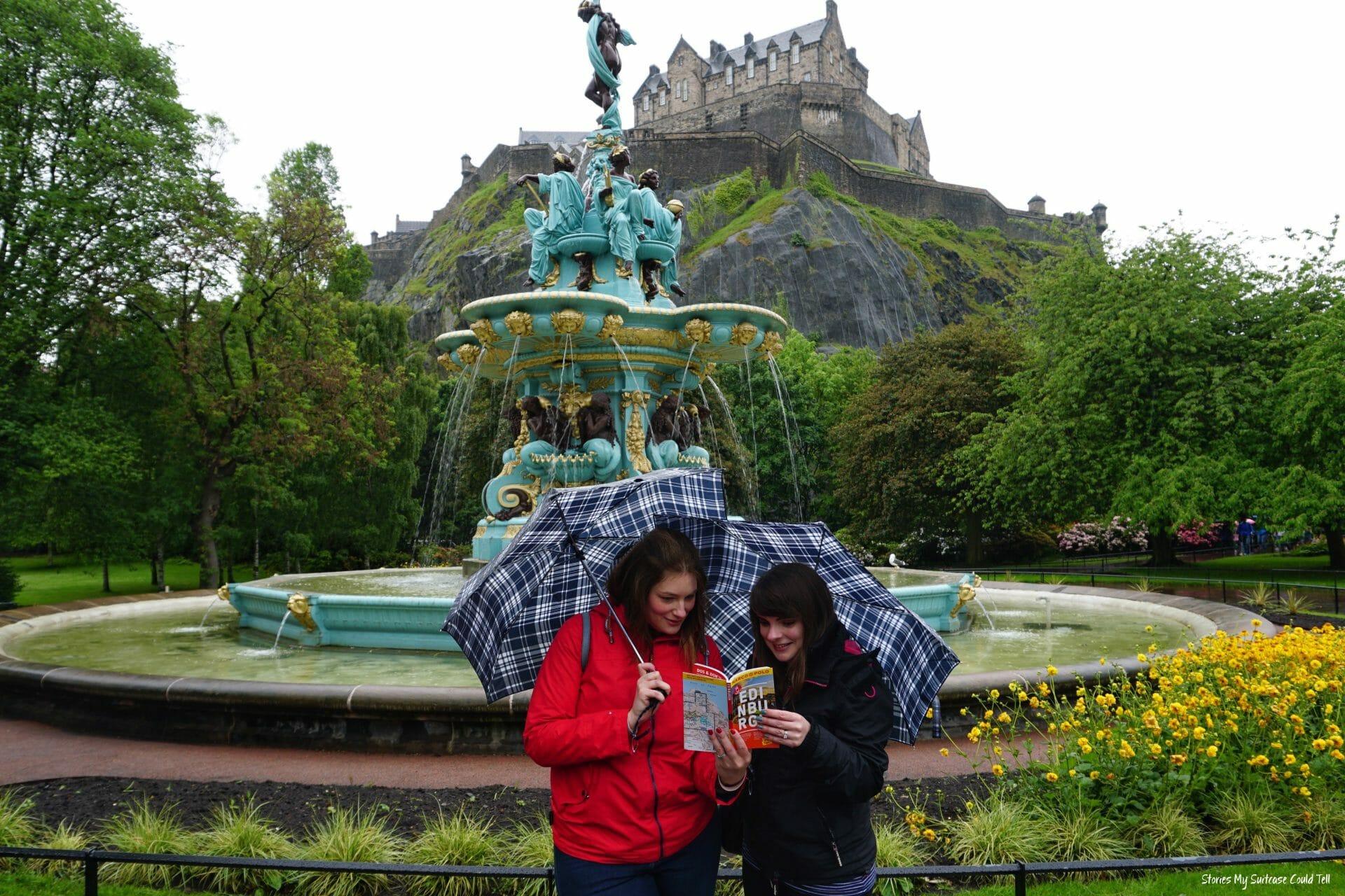 Edinburgh Castle on a day trip to Edinburgh