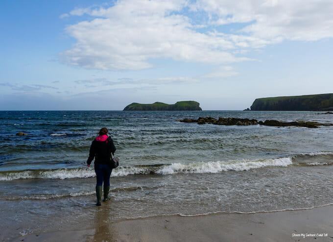 Walking on Bayble Beach Isle of Lewis
