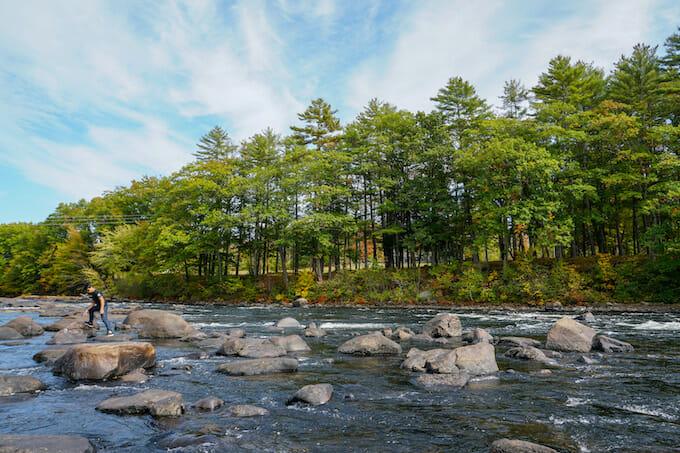 River near Portland Maine